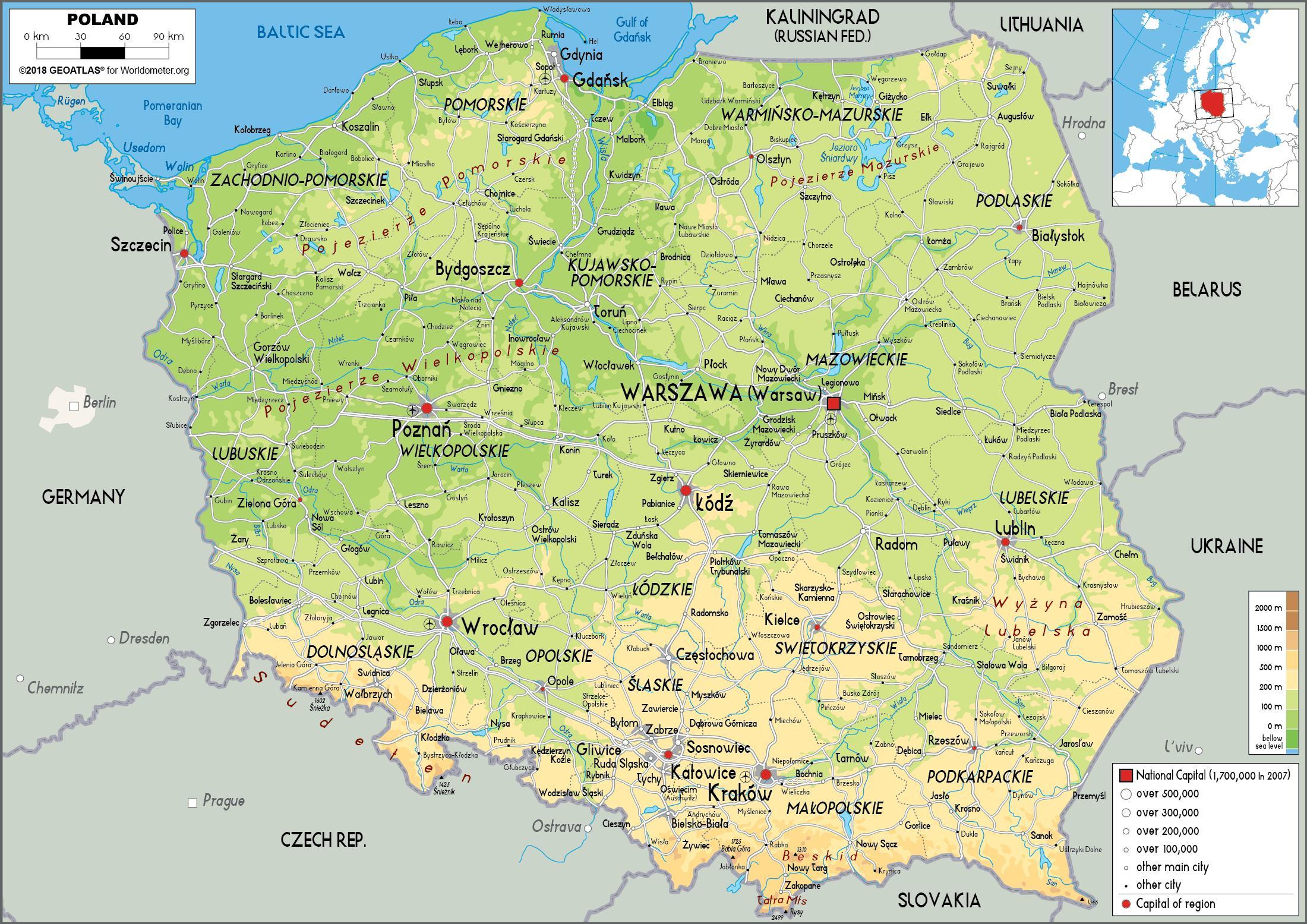 karta polen Polen kart   Kart som viser Polen (Øst Europa   Europa) karta polen