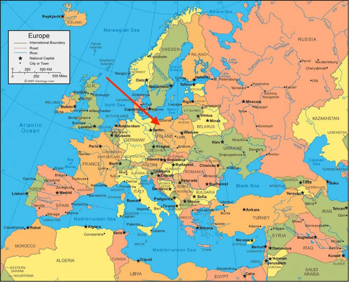kart av europa Polen kart europa   Kart over Polen europa (Øst Europa   Europa) kart av europa